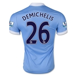 Manchester City 15/16 DEMICHELIS Authentic Home Soccer Jersey