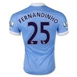 Manchester City 15/16 FERNANDINHO Authentic Home Soccer Jersey