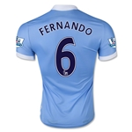 Manchester City 15/16 FERNANDO Authentic Home Soccer Jersey
