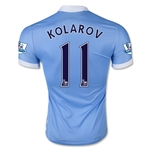 Manchester City 15/16 KOLAROV Authentic Home Soccer Jersey