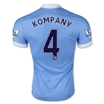 Manchester City 15/16 KOMPANY Authentic Home Soccer Jersey
