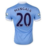 Manchester City 15/16 MANGALA Authentic Home Soccer Jersey