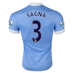 Manchester City 15/16 SAGNA Authentic Home Soccer Jersey