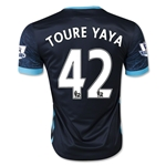 Manchester City 15/16 TOURE YAYA Away Soccer Jersey
