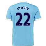 Manchester City 15/16 CLICHY Home Soccer Jersey