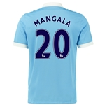 Manchester City 15/16 MANGALA Home Soccer Jersey