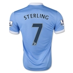Manchester City 15/16 STERLING Home Soccer Jersey