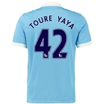 Manchester City 15/16 TOURE YAYA Home Soccer Jersey