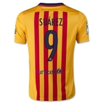 Barcelona 15/16 SUAREZ Youth Away Soccer Jersey