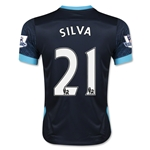 Manchester City 15/16 SILVA Youth Away Soccer Jersey