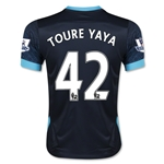 Manchester City 15/16 TOURE YAYA Youth Away Soccer Jersey