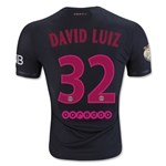 Paris Saint-Germain 15/16 DAVID LUIZ Authentic Third Soccer Jersey