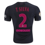 Paris Saint-Germain 15/16 T. SILVA Authentic Third Soccer Jersey