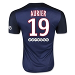 Paris Saint-Germain 15/16 AURIER Authentic Home Soccer Jersey