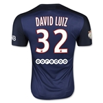 Paris Saint-Germain 15/16 DAVID LUIZ Authentic Home Soccer Jersey