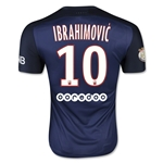 Paris Saint-Germain 15/16 IBRAHIMOVIC Authentic Home Soccer Jersey