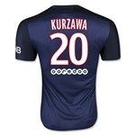 Paris Saint-Germain 15/16 KURZAWA Authentic Home Soccer Jersey