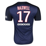 Paris Saint-Germain 15/16 MAXWELL Authentic Home Soccer Jersey