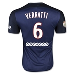 Paris Saint-Germain 15/16 VERRATTI Authentic Home Soccer Jersey