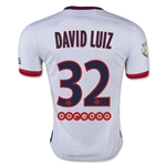 Paris Saint Germain 15/16 DAVID LUIZ Away Soccer Jersey