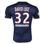 Paris Saint-Germain 15/16 DAVID LUIZ Home Soccer Jersey