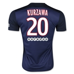 Paris Saint-Germain 15/16 KURZAWA Home Soccer Jersey