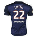 Paris Saint-Germain 15/16 LAVEZZI Home Soccer Jersey