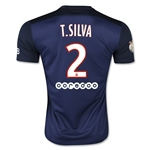 Paris Saint-Germain 15/16 T. SILVA Home Soccer Jersey