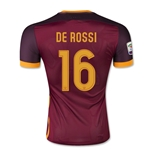 AS Roma 15/16 DE ROSSI Authentic Home Soccer Jersey