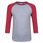 Junior 3/4 Sleeve T-Shirt (Heather Red)
