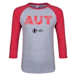 Austria Euro 2016 Junior Elements 3/4 Sleeve T-Shirt (Heather Red)
