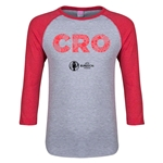 Croatia Euro 2016 Junior Elements 3/4 Sleeve T-Shirt (Heather Red)
