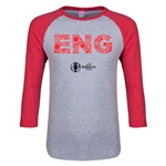 England Euro 2016 Junior Elements 3/4 Sleeve T-Shirt (Heather Red)