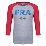France Euro 2016 Junior Elements 3/4 Sleeve T-Shirt (Heather Red)