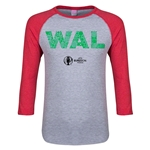 Wales Euro 2016 Junior Elements 3/4 Sleeve T-Shirt (Heather Red)