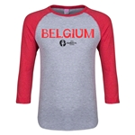 Belgium Euro 2016 Junior Core 3/4 Sleeve T-Shirt (Heather Red)