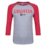 Croatia Euro 2016 Junior Core 3/4 Sleeve T-Shirt (Heather Red)
