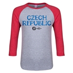Czech Republic Euro 2016 Junior Core 3/4 Sleeve T-Shirt (Heather Red)
