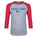 England Euro 2016 Junior Core 3/4 Sleeve T-Shirt (Heather Red)