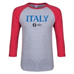 Italy Euro 2016 Junior Core 3/4 Sleeve T-Shirt (Heather Red)
