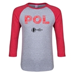 Poland Euro 2016 Junior Elements 3/4 Sleeve T-Shirt (Heather Red)