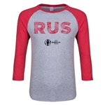 Russia Euro 2016 Junior Elements 3/4 Sleeve T-Shirt (Heather Red)