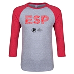 Spain Euro 2016 Junior Elements 3/4 Sleeve T-Shirt (Heather Red)