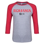 Romania Euro 2016 Junior Core 3/4 Sleeve T-Shirt (Heather Red)
