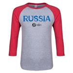 Russia Euro 2016 Junior Core 3/4 Sleeve T-Shirt (Heather Red)