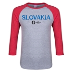 Slovakia Euro 2016 Junior Core 3/4 Sleeve T-Shirt (Heather Red)