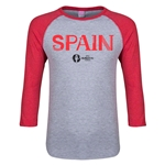 Spain Euro 2016 Junior Core 3/4 Sleeve T-Shirt (Heather Red)