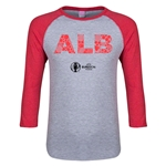 Albania Euro 2016 Junior Elements 3/4 Sleeve T-Shirt (Heather Red)