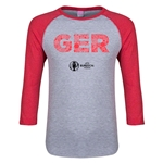 Germany Euro 2016 Junior Elements 3/4 Sleeve T-Shirt (Heather Red)