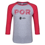 Portugal Euro 2016 Junior Elements 3/4 Sleeve T-Shirt (Heather Red)